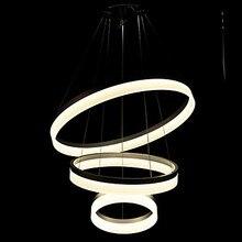 60 CM Drei Ringe Runde Acryl Moderne LED Anhnger Leuchten Fr Esszimmer Wohnzimmer Gabe Lampe Lamparas Colgantes