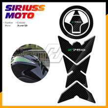 3D Carbon-look Motorcycle Tank Pad Fuel Gas Cap Protector Decals Case for Kawasaki Z750 Z750R Z 750 2007-2012