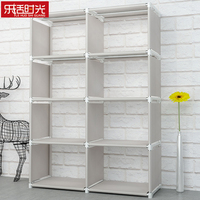 Minimalist Modern Floored Book Shelf Simple Assembled Nonwoven Fabric Student Shelves for Home Fashion DIY Creative Bookshelf