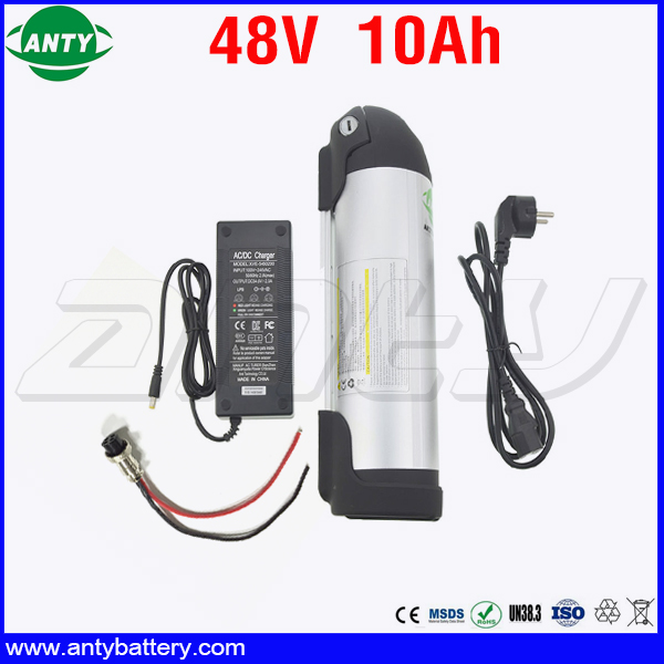 Electric Bicycle Battery 48v 10Ah 350w Lithium Battery Pack 48v with 2A Charger Built in 15A BMS eBike Battery 48v Free Shipping free customs taxes super power 1000w 48v li ion battery pack with 30a bms 48v 15ah lithium battery pack for panasonic cell