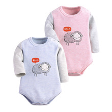 Hot Sale Unisex Autumn Winter Baby Rompers(2PC) Girl And Boy Rompers Kids Jumpsuit Cotton Clothes