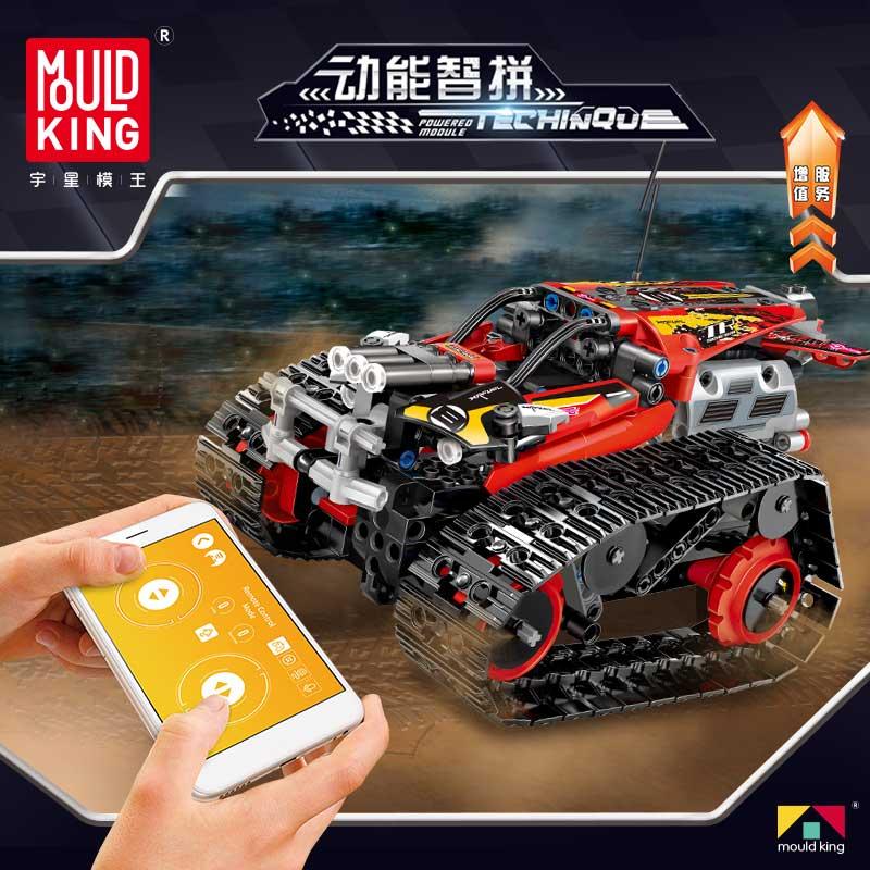 Moule roi RC voiture blocs de construction point aimant construction ensemble bloc de construction voiture matériel educativo cadeau jouets pour enfants