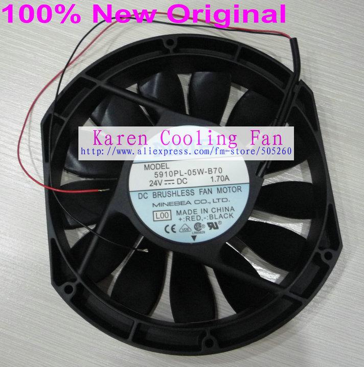 NMB New Original 15CM 5910PL-05W-B70 15025 24v 1.7a  Cooling Fan nmb 3610kl 05w b49 9225 24v 3 wire cooling fan blower