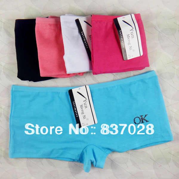 951459655 ... Free shipping women s panties full cotton ladies pants printing briefs  cute boyshort underwear 5pcs lot ...
