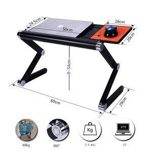 Image 3 - SUFEILE แฟชั่นแล็ปท็อปโต๊ะ 360 องศาปรับพับแล็ปท็อปโน๊ตบุ๊คโต๊ะคอมพิวเตอร์ตารางสีฟ้าขาตั้งแบบพกพา D5