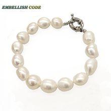 selling well sheen white wonderful small baroque Irregular pearls real natural freshwater pearl bracelet bangle for girl women недорого