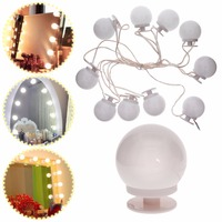 Higt Quality 10Pcs/Set Bulbs Makeup Mirror Lightbulb LED Light Kit for Dressing Table with Dimmer #276115