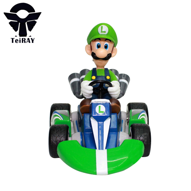 7 Styles Super Mario Bros Figures 13Cm Japan Anime Luigi Dinosaurs Donkey Kong Bowser Kart Pull Back Car Pvc Figma Kids Hot Toys