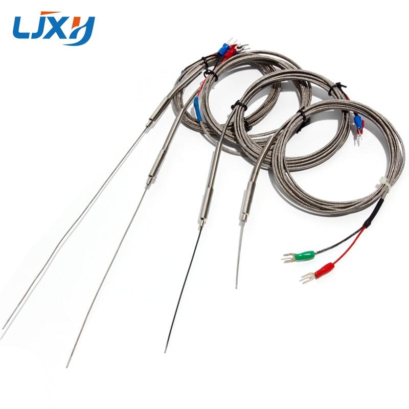 LJXH 1mm Diameter Probe K-Type Thermocouple 2-wires Temperature Sensors 2-Terminals 1m/2m/3m/4m/5m Thermocouple