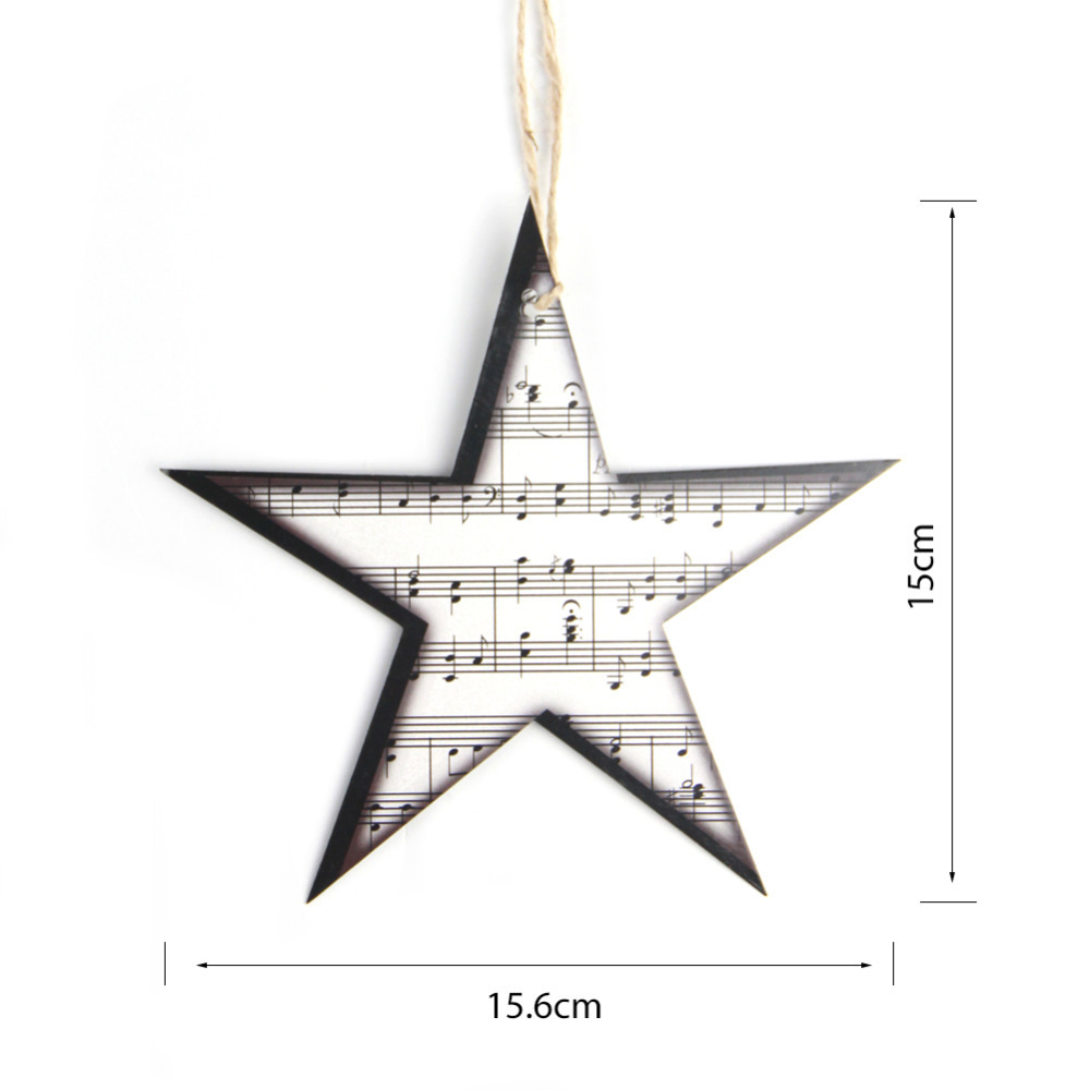 12pc Vintage Twinkle Little Star Sheet Music Garland Star Ornaments ...