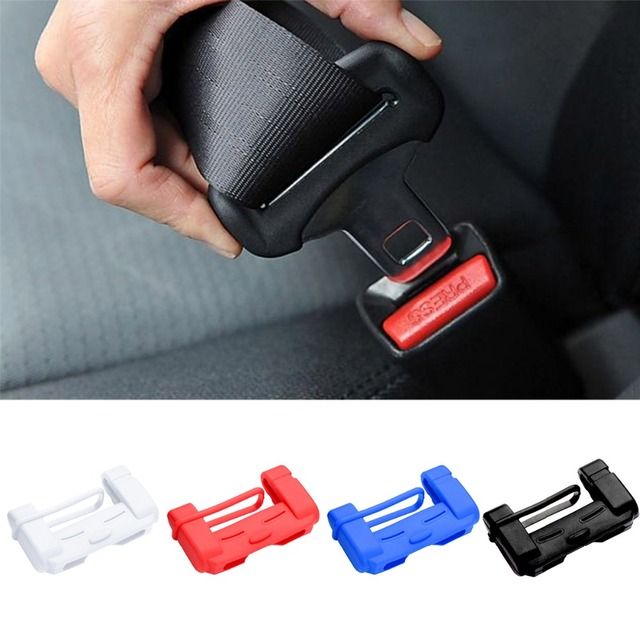 Car Safety Belt Buckle Covers Padding Anti Scratch Silicon Interior Pad Buckle Protector Seat Belts Padding Car Accessories