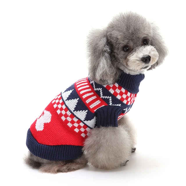 Fun Christmas Dog Swearter Clothes Puppy Outfit Pet Jacket Coat Winter Warm  Clothes Soft Sweaters Clothing - Fun Christmas Dog Swearter Clothes Puppy Outfit Pet Jacket Coat