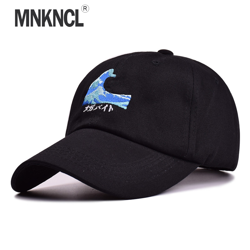 High Quality Brand   Cap   Waves Embroidery Snapback   Cap   Cotton   Baseball     Cap   For Men Women Hip Hop Dad Hat Bone Garros