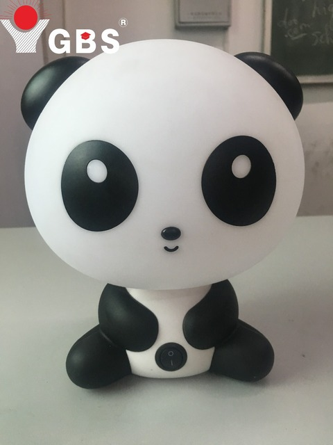EU Plug New Cute Panda Cartoon Desk Lamp Animal LED Night Lamp Animals Table Light For Children Room Study Room AC 90-260V