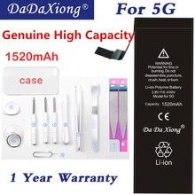 2018 Da Xiong Lithium Battery For iPhone 5 5G Bateria iPhone5 Li-ion Batarya 1520mAh Batterij Free Tools Retail Package