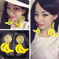 so cool summer earrings fruit artificial Lemon orange banana earrings