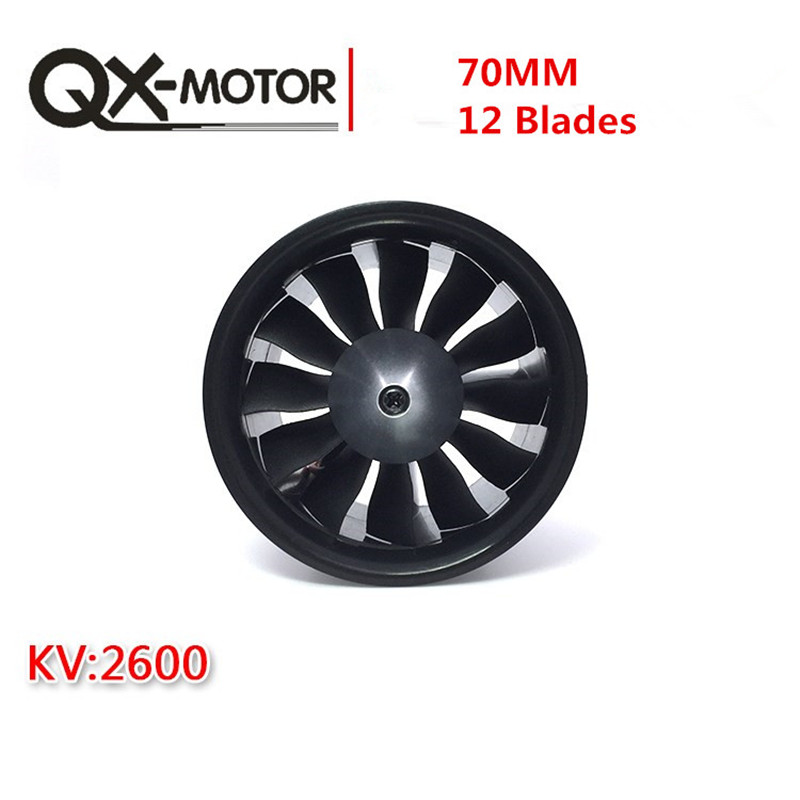 QX moteur 70mm ventilateur à conduit électronique 12 pales EDF avec moteur sans balais 2827 KV2600 et 80A esc pour pièces de modèle de Drone RC-in Pièces et accessoires from Jeux et loisirs    3