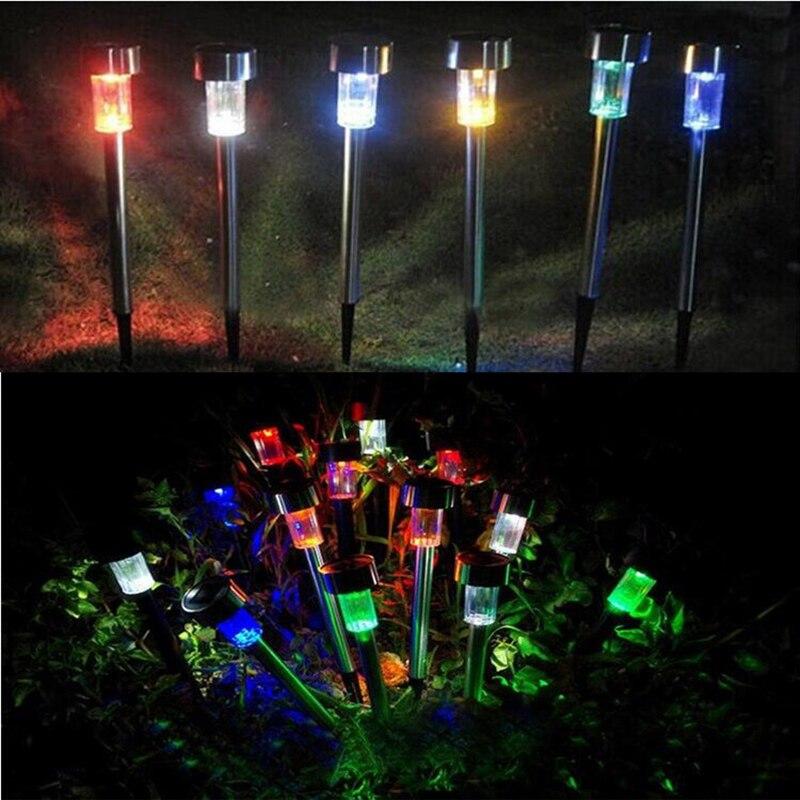 BRIGHTINWD 10pcs Stainless Steel Lampada Solar Para Jardim