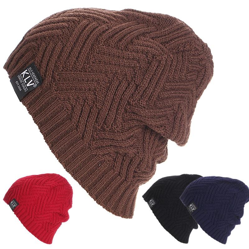 Unisex Women Men Warm Winter Baggy Beanie Knit  Acrylic Crochet Oversize Hat Slouch Caps