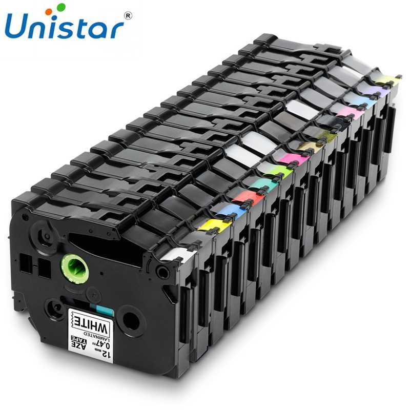 Unistar Tze231 Tape 12 Mm Kompatibel untuk Brother P-touch Tze 231 335 Hitam Putih Multi Warna Label pembuat TZ TZe-231 TZe-FX231