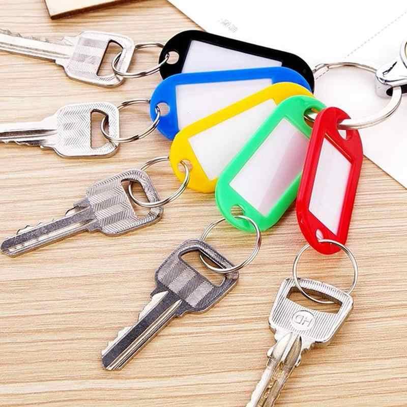 Etiquetas plásticas coloridas da identificação da bagagem dos fobos da chave etiqueta o chaveiro com cartões de nome para muitos usos-cachos da bagagem das chaves