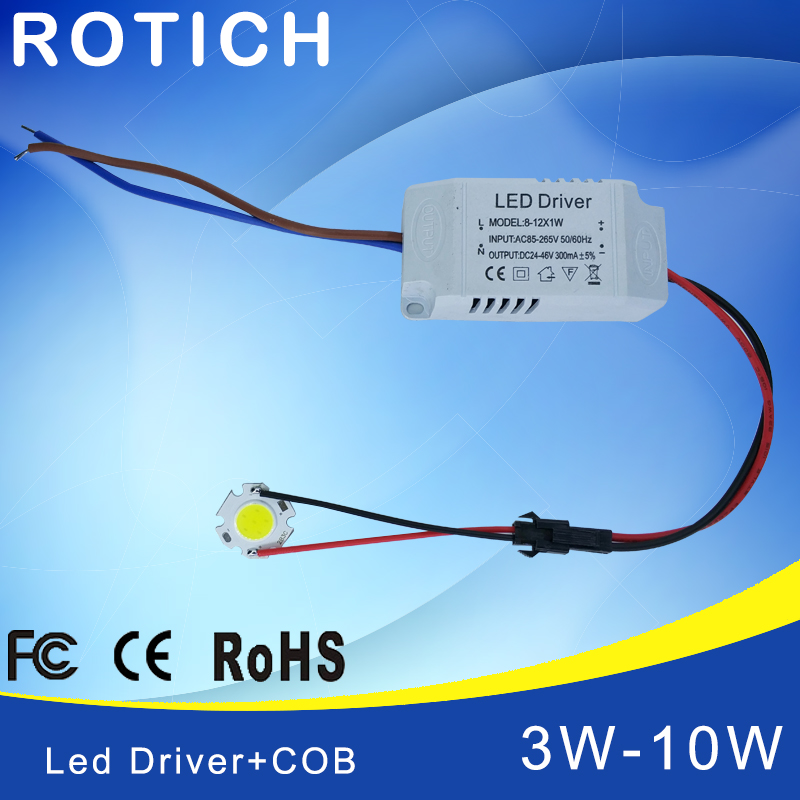 3W 5W 7W 10W COB <font><b>LED</b></font> +<font><b>driver</b></font> power supply built-in constant current Lighting 85-265V Output <font><b>300mA</b></font> Transformer image