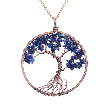 7 Chakra Tree Of Life Gem Necklace  4
