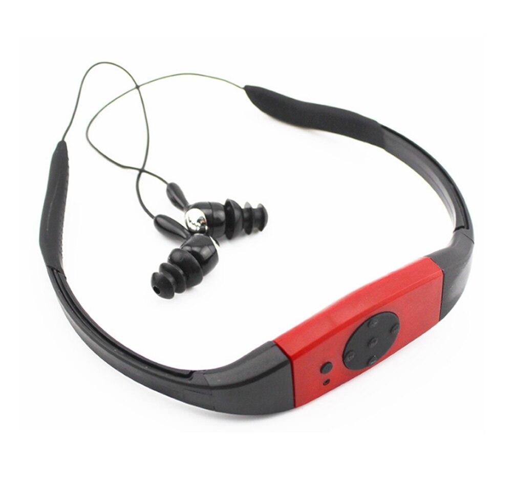 4G/8GB IPX8 водонепроницаемый MP3-плеер радио FM голова носить для дайвинга плавать Серфинг под водой спортивные музыкальные плееры
