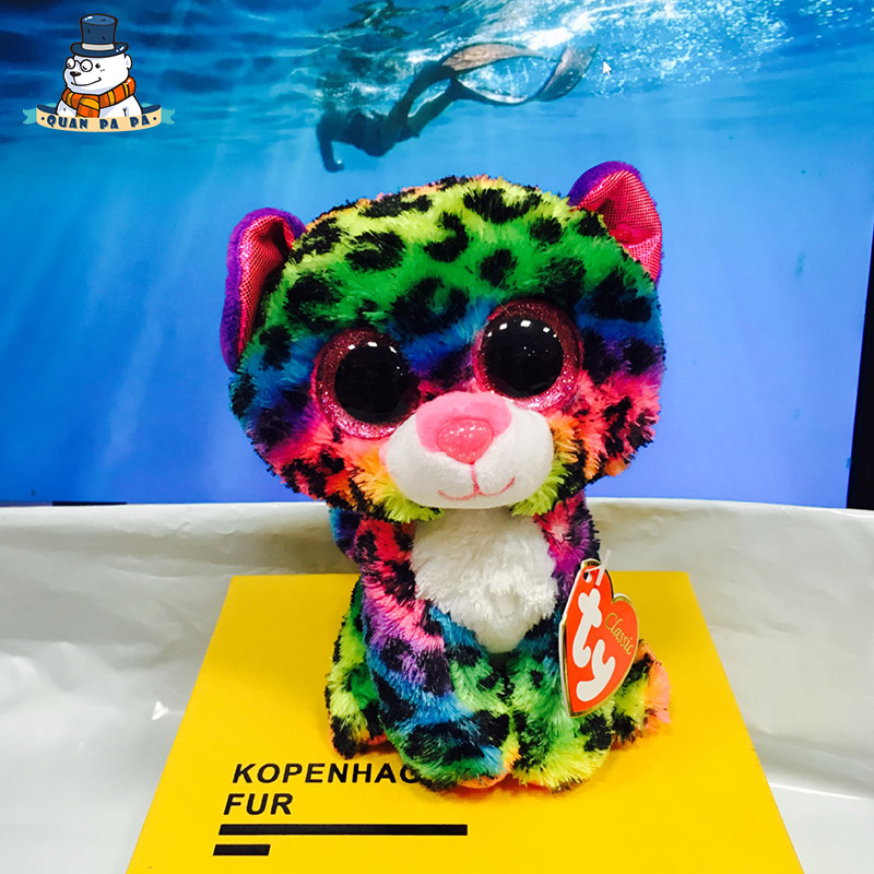 [Quanpapa] Новое 15 см хлопок Животные плюшевые игрушки Фиолетовый леопард кукла регулярное мягкие Животные Ty Beanie Боос плюшевые игрушка для ребе...