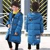 Children Jacket Boy S Warm Winter Long Outerwear 2017 Teenagers New Big Kids Down Jacket Coat