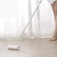 Retractable flooring stickers slanting pet hairbrush roller dust collector sticky dust sticky roll