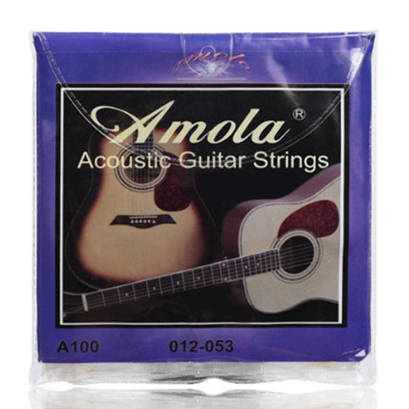 buy amola acoustic guitar strings set 010 012 011 pure copper 1set for wooden. Black Bedroom Furniture Sets. Home Design Ideas