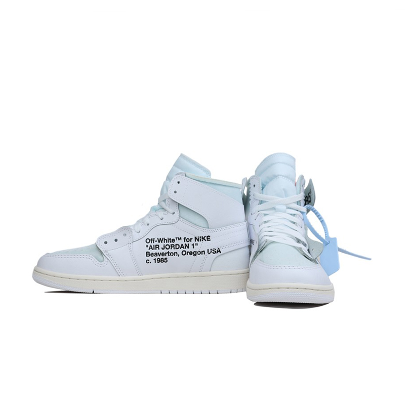 finest selection ed334 01560 : Buy Original New Arrival Authentic NIKE Air Jordan 1 X Off White AJ1  Men's Basketball Shoes Sport Sneakers Good Quality A