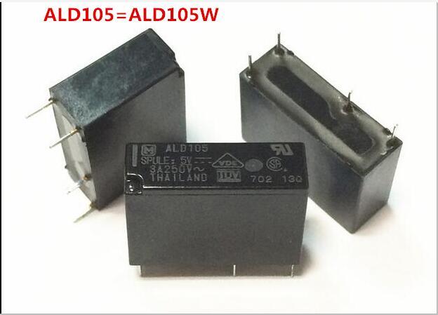 HOT NEW relay ALD105 ALD105W 5VDC ALD105-5VDC ALD105W-12VDC 5V 5VDC DC5V DIP4 hot new relay hf6 73 5v hf6 relays 5v 5vdc dc5v 5v sop 2pcs lot