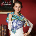 100% Natural Silk Square Scarves Fashion Printed Scarf Shawl Large Size 110cm x 110cm Top Grade Sunscreen Shawls Fw204