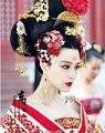 Тв играть тан императрица - ву Meiniang актриса костюм Hanfu аксессуары для волос волос комплект ювелирных изделий