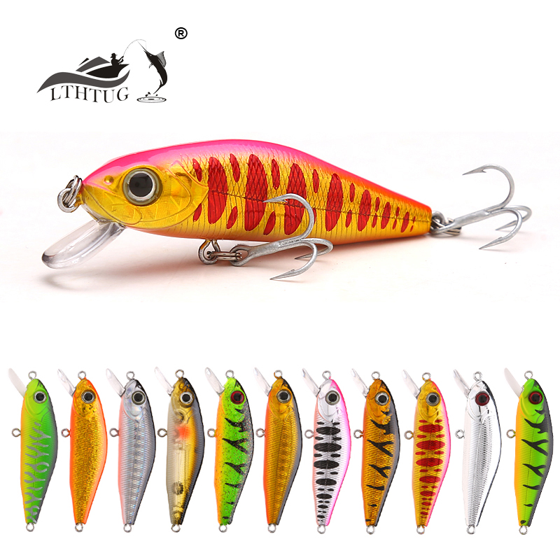 LTHTUG Japan Design Pesca Hard Fishing Lure 55mm 6g Suspending Minnow Peche Artificial Bait For Bass Perch Pike Salmon Trout H30