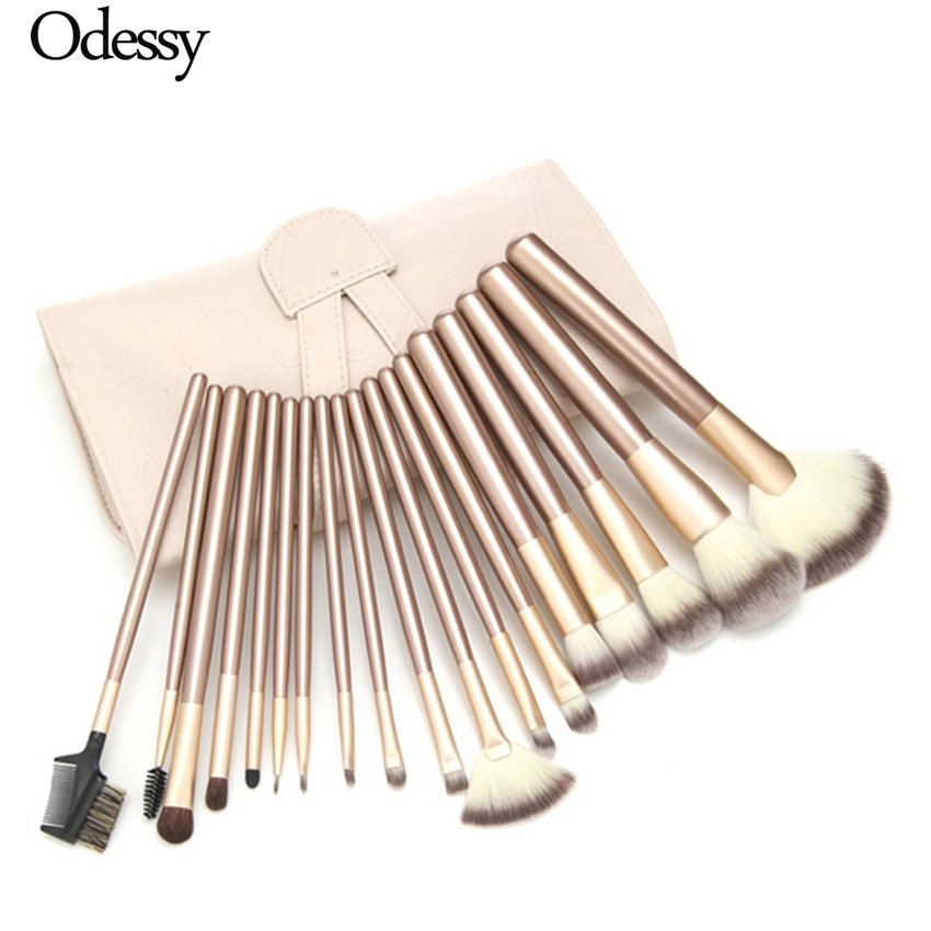Makeup Brush Set 12/18 24 pcs Soft Synthetic Professional Cosmetic Make up Foundation Blush Fan Eye Beauty Brushes with Pouch кольцо art silver art silver mp002xw00jzh