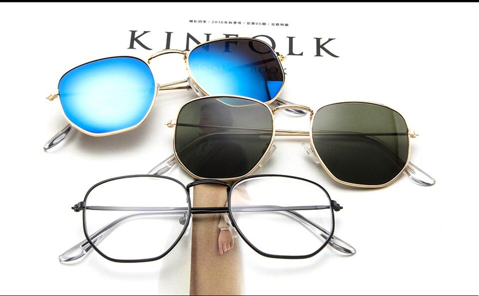 GYsnail hexágono pequeño gafas de sol para mujer de lujo 2018 hombres c5a191a829c9