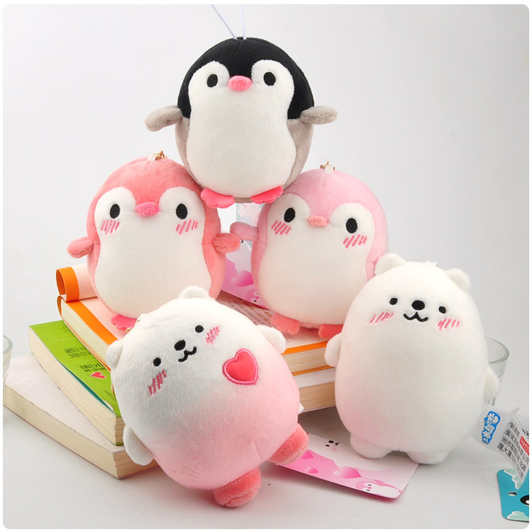 Anime Love In Ice Island Plush Keychain Cartoon Soft Kawaii Penguin Bear Nano Foam Mini Dresser Ornaments Stuffed Pendant Doll