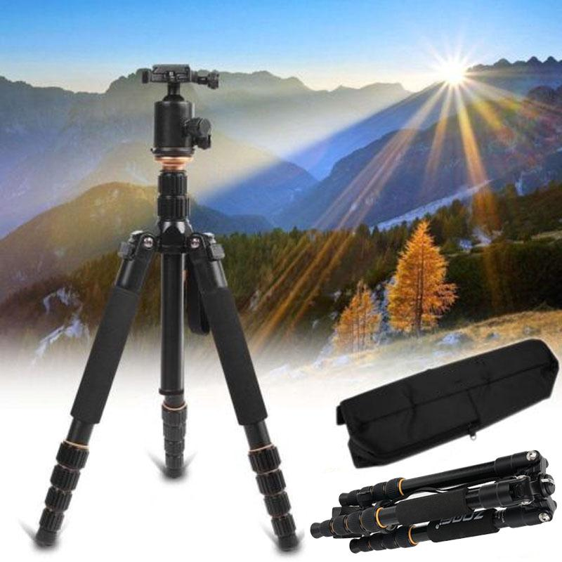 Zomei Q666 Portable Professional Tripod Ball Head Monopod For Canon For DSLR SLR Camera Magnesium Alloy Photograph Tripods Gift zomei q666 professional magnesium alloy digital camera traveling tripod monopod for digital slr dslr camera