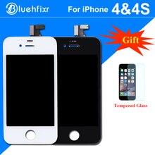 AAA для iphone 4S ЖК-дисплей Дисплей Сенсорный экран планшета Ассамблеи телефон запасные части черный, белый цвет ЖК-дисплей для iphone 4S экран Дисплей