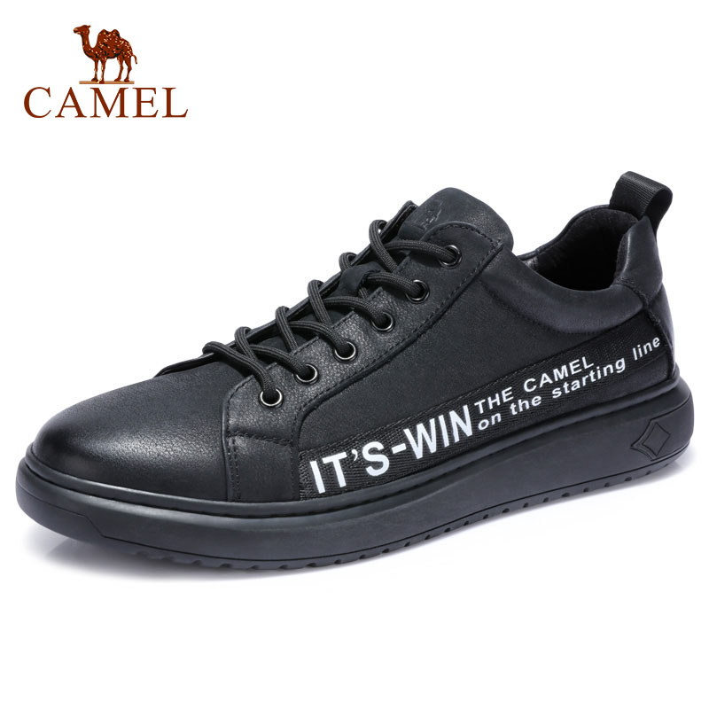 CAMEL Genuine Leather Men's Fashion England Casual Shoes Comfortable Male Lace-up Men Moccasin Leather Man Footwear