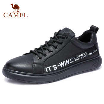 CAMEL Genuine Leather Men's Fashion England Casual Shoes Comfortable Male Lace-up Men Moccasin Leather Man Footwear - DISCOUNT ITEM  15% OFF All Category