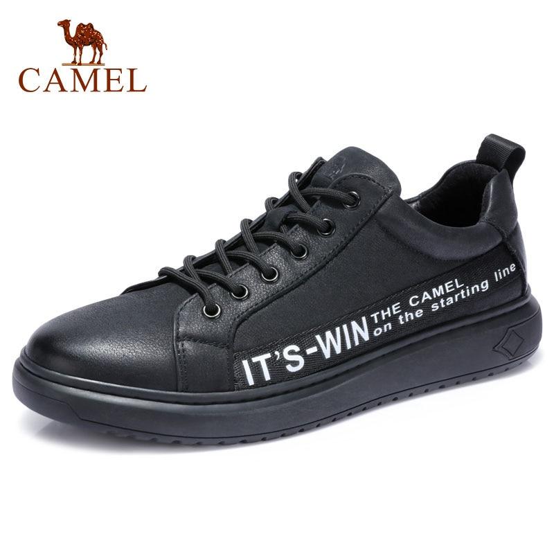 CAMEL cuero genuino hombres de moda Inglaterra Casual zapatos cómodos hombre encaje up hombres mocasín cuero Hombre calzado-in Zapatos informales de hombre from zapatos    1