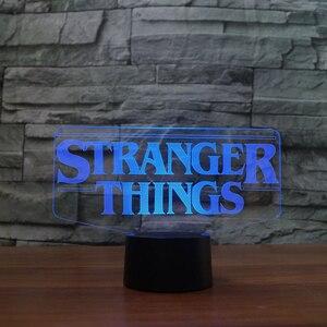 Image 3 - 7 Colors Changing 3D Acrylic Led Luminous Stranger Shape Table Lamp Office Home Decor Child Movie Bedside Sleep Night Light Gift
