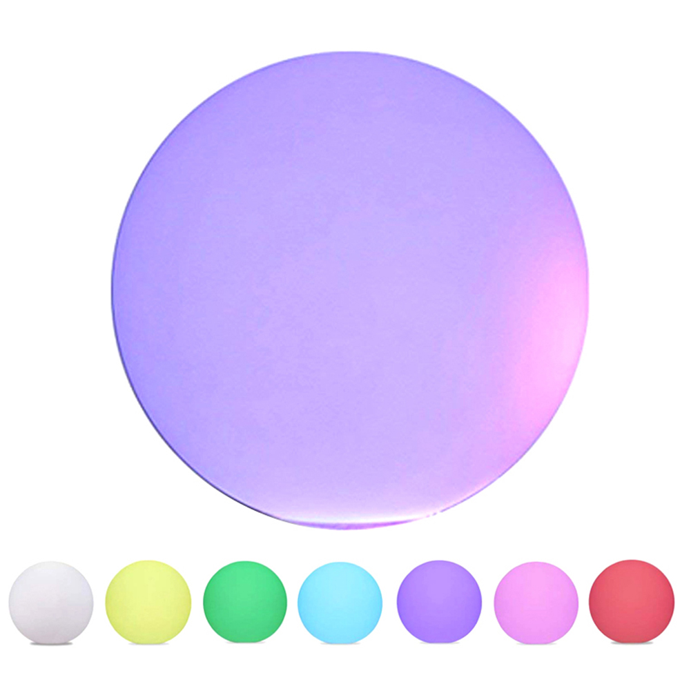 LED Light Ball Cordless Night Lights With Remote Control Rechargeable Pool Floating Orb _WK