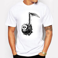 2016 New Lovely Death Had Come Printed Mens T Shirts 100 Combed Cotton Casual Tee Short
