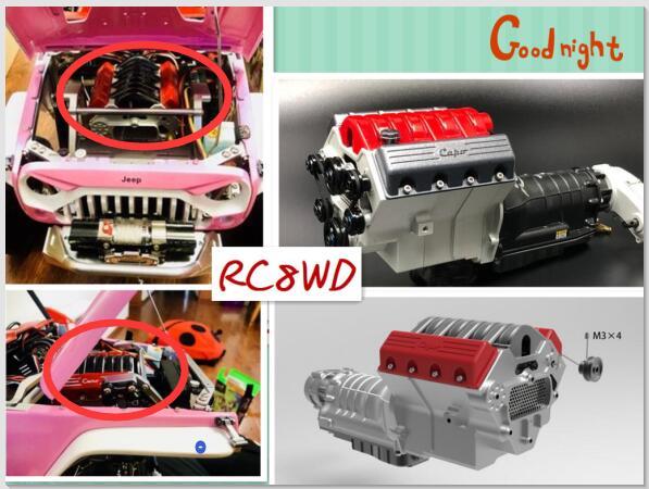 CD15827 1/10 escala RC WRANGLER oruga camión Capo jkmax Original G2 polea del motor Kit-in Partes y accesorios from Juguetes y pasatiempos    1