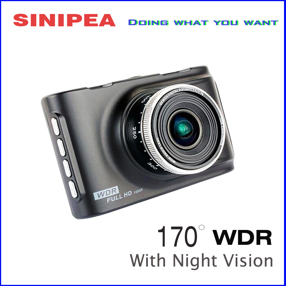Promotional Novatek Car Camera DVR Camera 1080P HD Parcking Recorder Video Cam With Night Vision 170